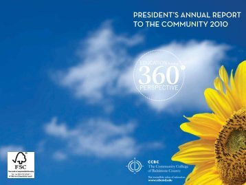 President's AnnuAl rePort to the Community 2010