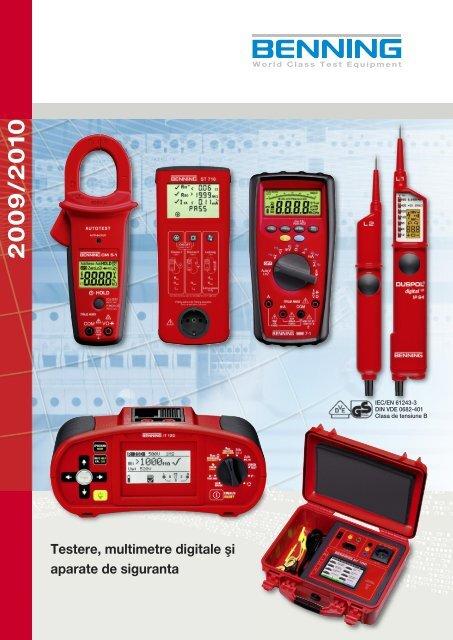 Testere, multimetre digitale şi aparate de siguranta