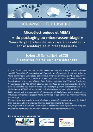 « du packaging au micro-assemblage » JOURNEE ... - SET