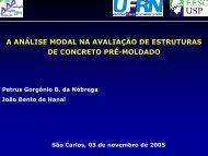 a análise modal na avaliação de estruturas de concreto pré ... - SET
