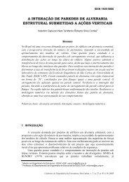 a interação de paredes de alvenaria estrutural ... - SET - USP