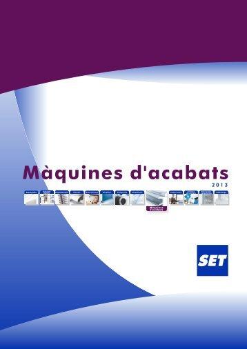 """Catàleg Màquines d""""Acabats - Set"""