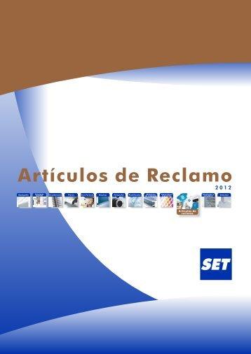 Catálogo Artículos de Reclamo - Set