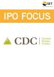 IPO Focus : CRYSTAL มิ.ย. 56