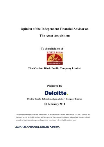 Attachment 7 to Invitation Letter-IFA Opinion-English - Birla Carbon