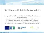 Novellierung der EU-Emissionshandelsrichtlinie