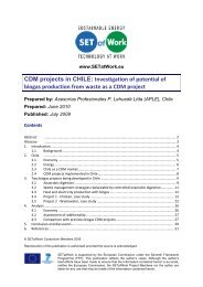 CDM projects in CHILE - SETatWork - Sustainable Energy ...