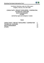 consultants / project developers / cooperation technology