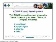 CDM/JI Project Development - SETatWork - Sustainable Energy ...