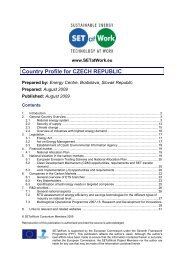 Czech Republic Country Profile Report - SETatWork - Sustainable ...