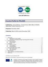 Country Profile for POLAND - SETatWork - Sustainable Energy ...
