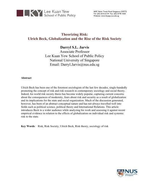 Ulrich Beck Globalisation