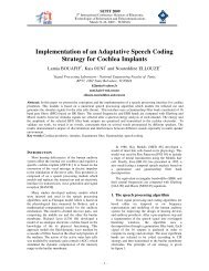 Implementation of an Adaptative Speech Coding Strategy for ...