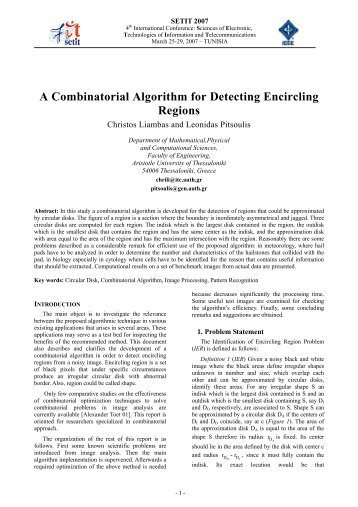 A Combinatorial Algorithm for Detecting Encircling Regions
