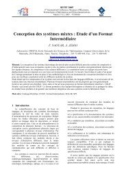 Conception des systèmes mixtes: Etude d'un Format Intermédiaire