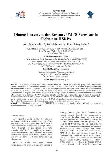Dimensionnement des Réseaux UMTS Basés sur la Technique ...