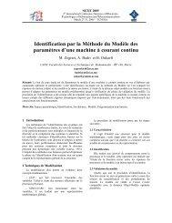 Identification par la Méthode du Modèle des paramètres d'une ...