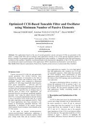 Optimized CCII-Based Tuneable Filter and Oscillator using Minimum ...