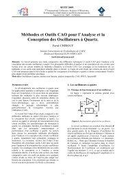 Méthodes et Outils CAO pour l'Analyse et la Conception des ...