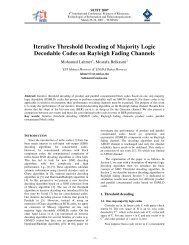 Iterative Threshold Decoding of Majority Logic Decodable Codes on ...