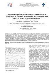 Apprentissage des performances, surveillance en temps réel et ...