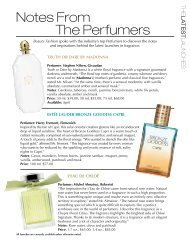 Notes From The Perfumers - Beauty Fashion