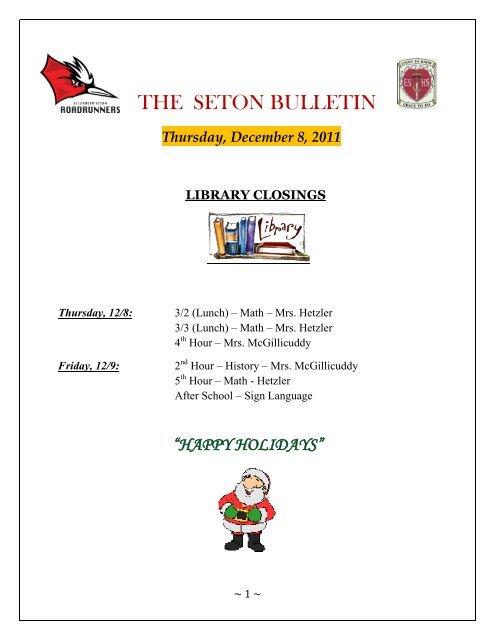 THE SETON BULLETIN