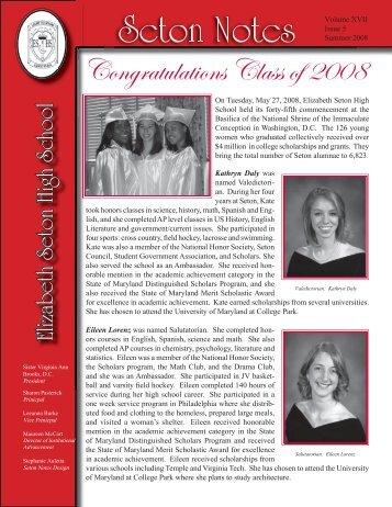 Summer 2008.indd - Elizabeth Seton High School