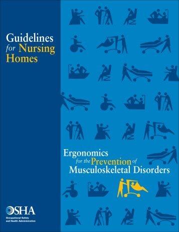 Ergonomic Guidelines for Nursing Homes - Seton Resource Center
