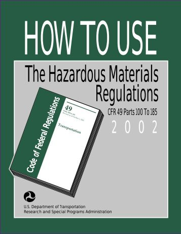How to use The Hazardous Material regulations - Seton