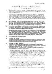 Merkblatt für Bootstransporte auf öffentlichen ... - Schleswig-Holstein