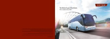 Technical specifications - Setra