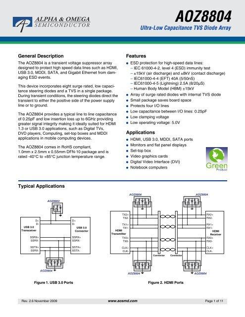 TVS Diodes Transient Voltage Suppressors 15V Single Line Low Capacitance TVS