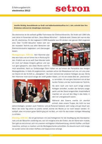 Ausführlicher Bericht von Jennifer Strübig zur electronica 2012 - setron