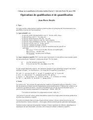 Opérations de qualification et de quantification - LaLIC