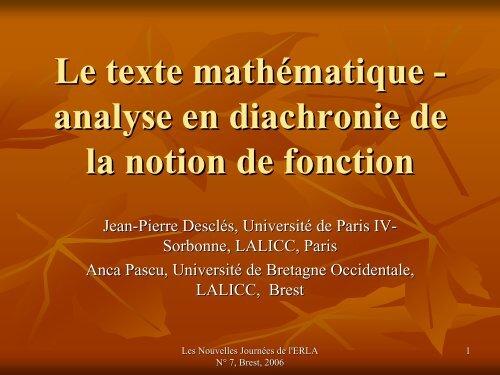 Fonction - LaLIC