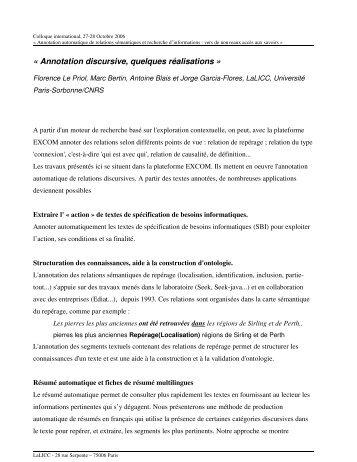 Résumé - LaLIC - Université Paris-Sorbonne