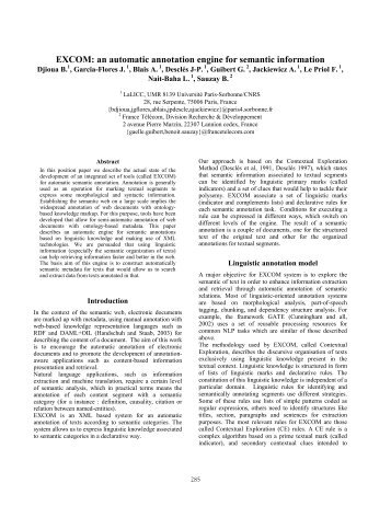 EXCOM: An Automatic Annotation Engine for ... - ResearchGate