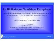 La Bibliothèque Numérique Européenne - LaLIC