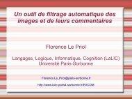 Présentation - LaLIC - Université Paris-Sorbonne