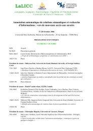 voir le programme scientifique - LaLIC - Université Paris-Sorbonne