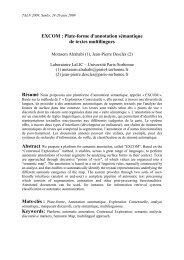 Modèle de document pour TALN 2008 - LaLIC - Université Paris ...