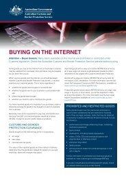 Buying on the internet - Australian Customs Service