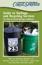 Guide to Garbage and Recycling Services - City of Coral Springs
