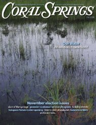 Fall 2006 - City of Coral Springs