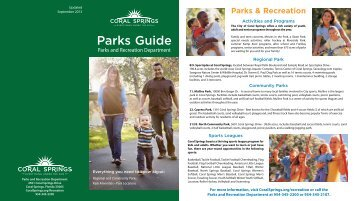 Park Facilities(.pdf) - City of Coral Springs