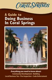 Guide to Doing Business in Coral Springs(.pdf) - City of Coral Springs
