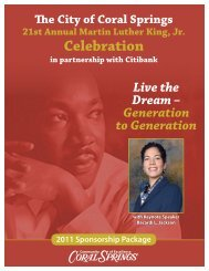 21st Annual Martin Luther King, Jr. Celebration - City of Coral Springs