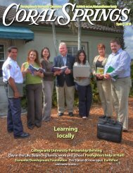 Learning locally - City of Coral Springs