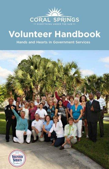 Volunteer Handbook - City of Coral Springs